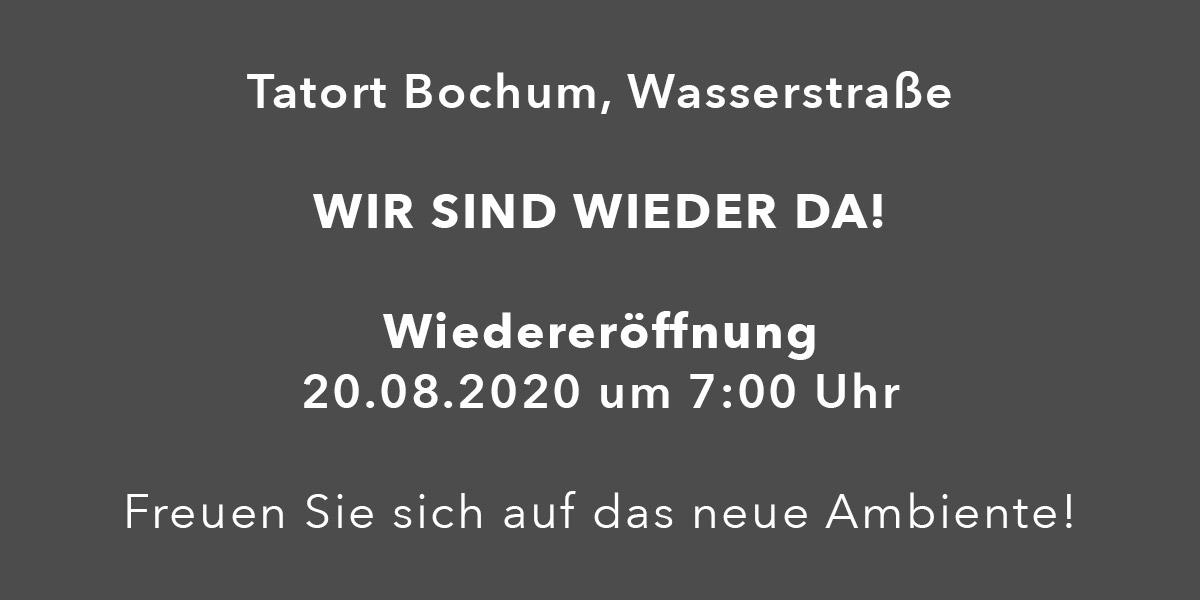 Wiedereröffnung Bochum Wasserstrasse